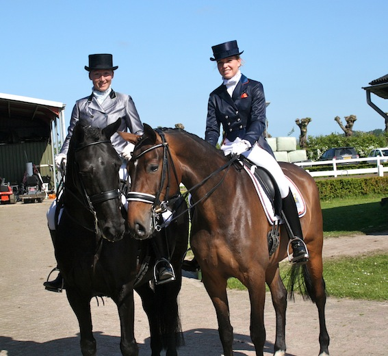 Ook mocht ik bijdragen aan het talent en succes van Amey Wagenaar met haar paard van toen Bonymanda